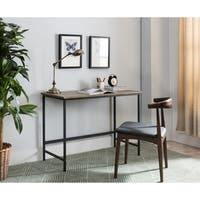 Black, Grey Wood  Metal Desk