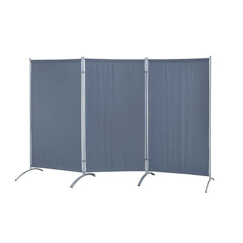 Galaxy Indoor 3-panel Indoor Room Divider with Metal Tubing Frame and Water Resistant Fabric