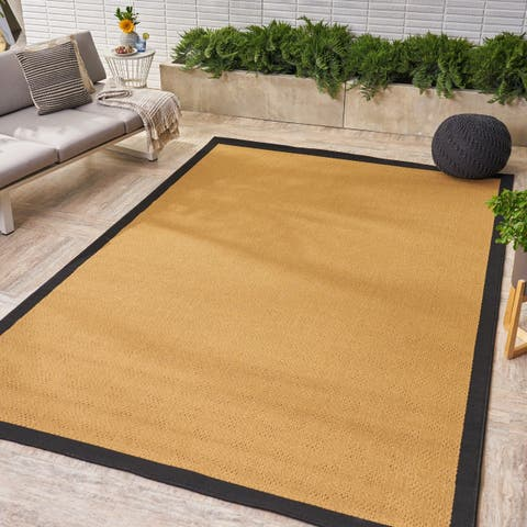 Troy Indoor/ Outdoor Border Area Rug by Christopher Knight Home