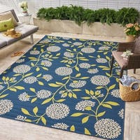 Viola Indoor/ Outdoor Floral Area Rug by Christopher Knight Home - 8 x 11