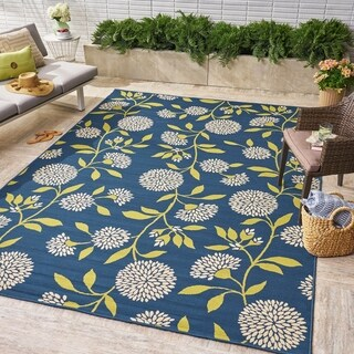 Viola Indoor/ Outdoor Floral Area Rug by Christopher Knight Home