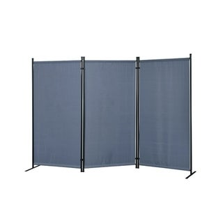 Galaxy Outdoor/Indoor 3-panel Room Divider with Heavy Duty Metal Tubing Frame and Water Resistant Fabric