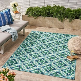 Jada Indoor/ Outdoor Geometric Area Rug by Christopher Knight Home - 5 x 8