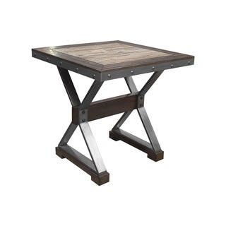 Best Master Furniture Dark Oak Square End Table