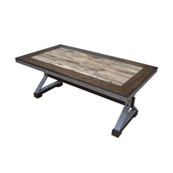 Shop Best Master Furniture Weathered Oak Sleigh: Shop Best Master Furniture Dark Oak Coffee Table