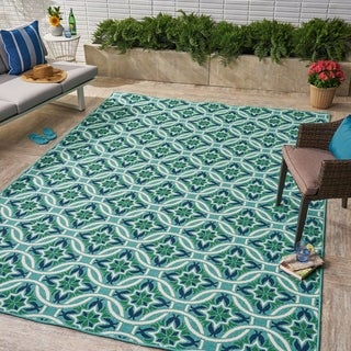 Jada Indoor/ Outdoor Geometric 8 x 11 Area Rug by Christopher Knight Home