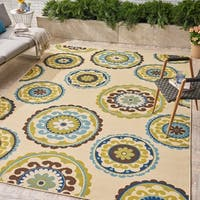 Jaylin Indoor/ Outdoor Floral Area Rug by Christopher Knight Home - 8 x 11