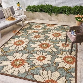 Melody Indoor/ Outdoor Floral Area Rug by Christopher Knight Home