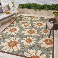 Melody Indoor/ Outdoor Floral Area Rug by Christopher Knight Home - 8'x10'
