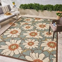 Melody Indoor/ Outdoor Floral Area Rug by Christopher Knight Home - 8 x 11