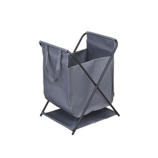 Staci Multifunction Foldable Storage Bin (Grey), Durable Fabric with Heavy Duty Metal FrameFoldable