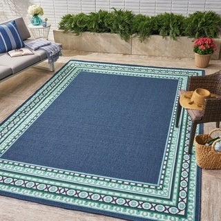 Remington Indoor/ Outdoor Border 8 x 11 Area Rug by Christopher Knight Home