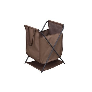 Staci Multifunction Foldable Storage Bin (Brown), Durable Fabric with Heavy Duty Metal Frame.