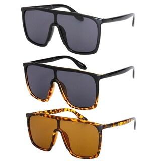 """""""Monique"""" UV400 Flat Top Plastic Aviator Sunglasses"""