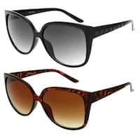 """Laura"" UV400 Retro Fashion Thin Frame Horn Rimmed Sunglasses"