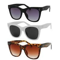 """Robin"" UV400 Retro Fashion Thick Frame Horn Rimmed Sunglasses"