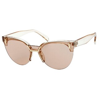 """Tori"" UV400 Retro Fashion Flat Frame Horn Rimmed Sunglasses (Option: Rose - Clear)"
