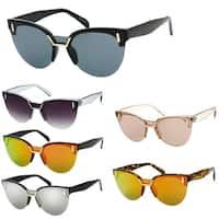 """""""Tori"""" UV400 Retro Fashion Flat Frame Horn Rimmed Sunglasses"""
