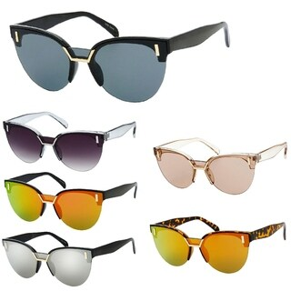 """Tori"" UV400 Retro Fashion Flat Frame Horn Rimmed Sunglasses"