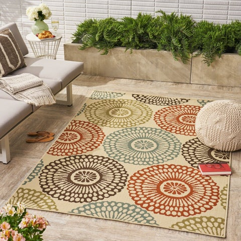 Mara Indoor/ Outdoor Floral Area Rug by Christopher Knight Home