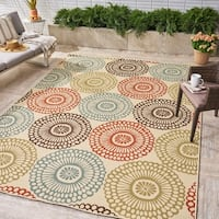 Mara Indoor/ Outdoor Floral Area Rug by Christopher Knight Home - 8'x10'