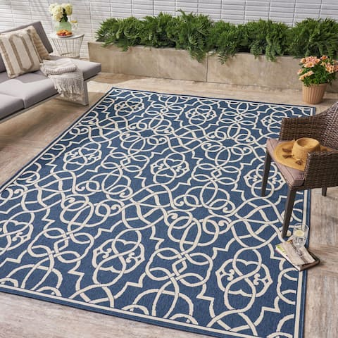 Belmont Indoor/ Outdoor Geometric Area Rug by Christopher Knight Home