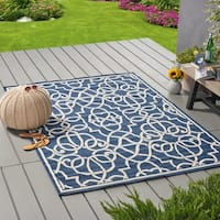 Belmont Indoor/ Outdoor Geometric Area Rug by Christopher Knight Home - 5 x 8