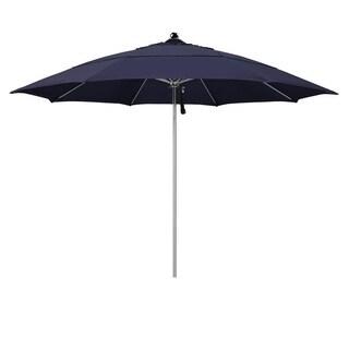 Magnolia Garden 11' Pulley Lift Stainless Steel/Fiberglass Umbrella with Olefin Fabric - Navy Blue