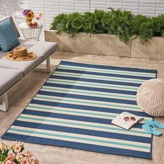 Ronan Indoor/ Outdoor Geometric Area Rug by Christopher Knight Home - 5 x 8