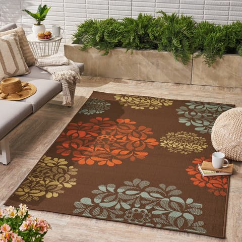 Henley Indoor/ Outdoor Floral Area Rug by Christopher Knight Home