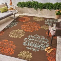 Henley Indoor/ Outdoor Floral Area Rug by Christopher Knight Home - 8'x10'
