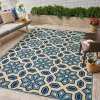 Tegan Indoor/ Outdoor Geometric Area Rug by Christopher Knight Home - 8'x10'