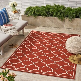 Thornhill Indoor/ Outdoor Geometric Area Rug by Christopher Knight Home - 5 x 8