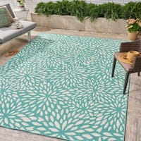 Simone Indoor/ Outdoor Floral Area Rug by Christopher Knight Home - 8 x 11