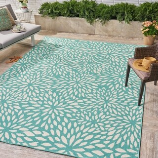 Simone Indoor/ Outdoor Floral 8 x 11 Area Rug by Christopher Knight Home
