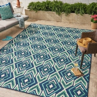 Myrtle Indoor/ Outdoor Geometric Area Rug by Christopher Knight Home