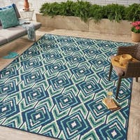 Myrtle Indoor/ Outdoor Geometric Area Rug by Christopher Knight Home - 8 x 11