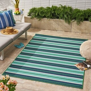 Ellis Indoor/ Outdoor Geometric Area Rug by Christopher Knight Home - 5 x 8