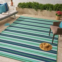 Ellis Indoor/ Outdoor Geometric Area Rug by Christopher Knight Home - 8 x 11