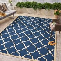 Joselyn Indoor/ Outdoor Geometric Area Rug by Christopher Knight Home - 8 x 11