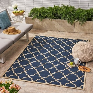 Joselyn Indoor/ Outdoor Geometric Area Rug by Christopher Knight Home - 5 x 8