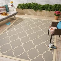 Barrett Indoor/ Outdoor Geometric Area Rug by Christopher Knight Home - 8 x 11