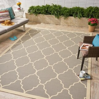 Barrett Indoor/ Outdoor Geometric 8 x 11 Area Rug by Christopher Knight Home