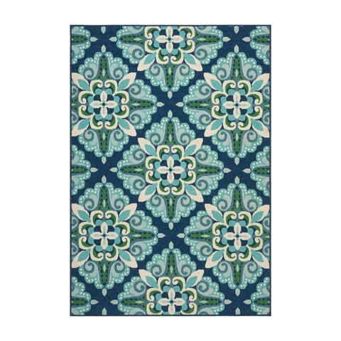 Kaia Indoor/ Outdoor Floral Area Rug by Christopher Knight Home