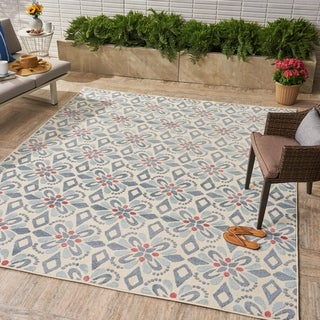 Shelby Indoor/Outdoor Floral 8 x 10 Area Rug by Christopher Knight Home