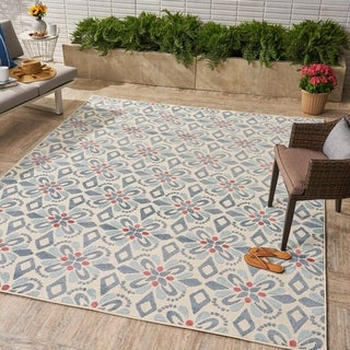 Shelby Indoor/Outdoor Floral Area Rug by Christopher Knight Home
