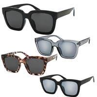"""Ester"" UV400 Retro Fashion Thick Frame Horn Rimmed Sunglasses"
