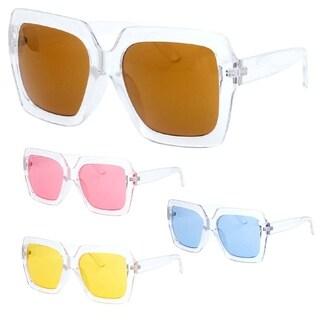 """Estel"" UV400 Retro Frame Horn Rimmed Color Sunglasses (4 PACK)"