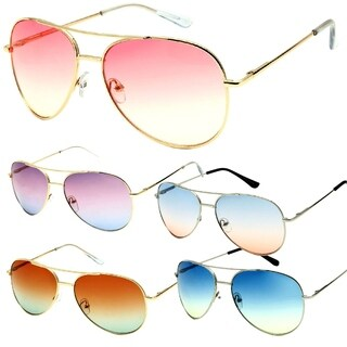 Classic Metal Frame Fashion Gradient Aviator Sunglasses OBS Edition