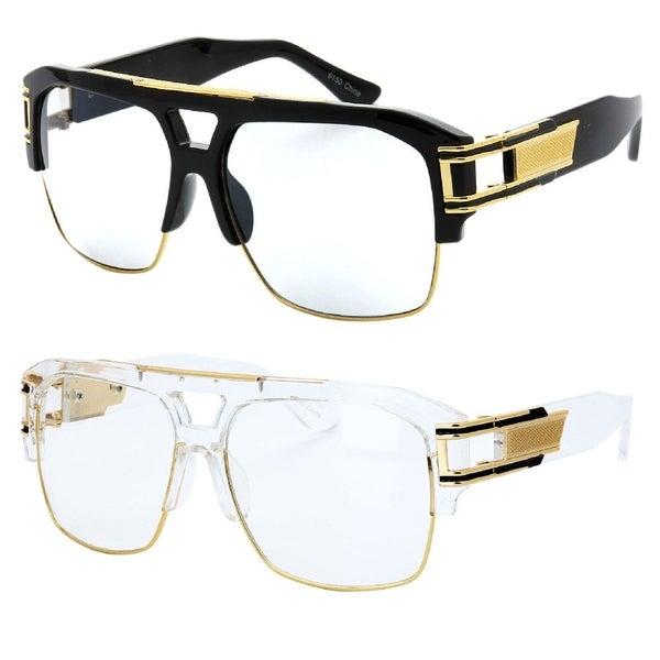 79e8da1b70e Shop Model 50C UV400 Retro Fashion Thick Frame Glasses - Free ...